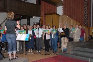Chor beim Gemeinschaftstag